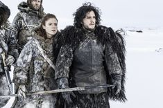 Rose Leslie as Ygritte and Kit Harington as Jon Snow in 'Game of Thrones' Season 3, Episode 301