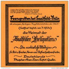 Original-Werbung/Inserat/ Anzeige 1928 - FEENGROTTEN/SAALFELDER HEILQUELLEN  - ca. 135 x 135 mm
