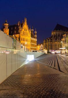 Leuven, Belgium. I used to pass here every day to go to school.  Ik mis België