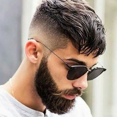 Short Hairstyles - Mid Skin Fade with Bangs