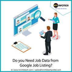 Our #Google #job detail scraping services will completely take the loading of web scraping completely from your #shoulders, offering you more time and energy to focus on the key aspects of your #business development.  What data are we extracting?  Job Title Salary Job Type Location Job Description Company Name Rating Number of Reviews    #DataMining #jobopening #recruitment #career #jobsearch #jobseeker #remotejob #machinelearning #technology #marketing #linkedin #project #USA #France #UAE Data Cleansing, Data Conversion, Companies In Usa, Data Processing, Job Title, Data Collection, Job Opening, Job Description, Job Search
