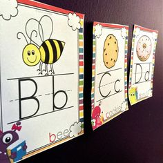 Back to School Alphabet Posters FREE - Sea of Knowledge