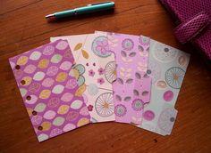 MINI Size Dividers - 'Purple Mint & Cream' #615 - Fits FILOFAX