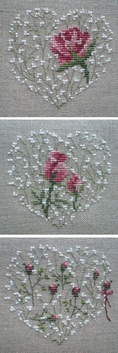 Thrilling Designing Your Own Cross Stitch Embroidery Patterns Ideas. Exhilarating Designing Your Own Cross Stitch Embroidery Patterns Ideas. Embroidery Hearts, Ribbon Embroidery, Cross Stitch Embroidery, Embroidery Patterns, Cross Stitch Heart, Cross Stitch Flowers, Cross Stitch Designs, Cross Stitch Patterns, Cross Stitching