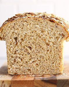 Best Healthy Soft Seedy Sandwich Bread Ambitious Kitchen Recipe Healthy Sandwiches Homemade Bread Bread Recipes