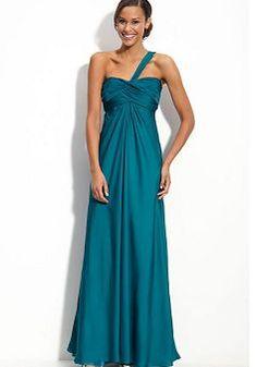 Airy Empire A line One Shoulder Floor Length Prom Evening Dresses - 1300258290B - US$95.49 - BellasDress