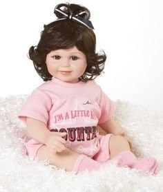 "Baby Olive Marie Little Bit Country 12"" Seated Doll By Marie Osmond"
