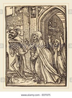 Download this stock image: Hans Holbein the Younger (German, 1497-1498-1543), Abbess, woodcut - EDT075 from Alamy's library of millions of high resolution stock photos, illustrations and vectors.