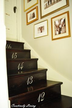 Number-on-Stairs-top: Creatively Living Blog