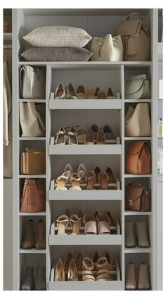 Closet Shoe Storage, Wardrobe Storage, Built In Wardrobe, Shoe Storage Ideas Bedroom, Clever Storage Ideas, Shoe Storage Design, Wardrobe Shoe Rack, Preppy Wardrobe, Small Wardrobe