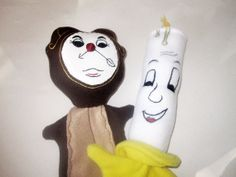 Clock and Candle Puppets from Beauty and the Beast by Meoneil, $50.00