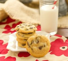 Soft chocolate chip cookies with a secret ingredient