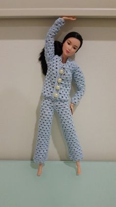 Barbie Pajama Set (Free Crochet Pattern) - http://hubpages.com/art/Barbie-Pajama-Set-Free-Crochet-Pattern #crochettoysbarbieclothes