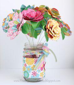 Papieren boeket | Paper bouquet by krafting kelly #DIY