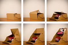CARDBOARD ORIGAMI by Chiara Goose Gustinelli, via Behance