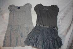 Lot of Girl's Gap / Tutu Dresses Sz 4 4T 5T- Elegant in Gray! BTS!