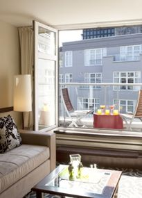 Le Saint-Sulpice Montreal: Executive Suites are 800 square feet with separate bedrooms and living rooms. Executive Suites, Back Patio, Hotels And Resorts, Apartment Therapy, Saints, Room Decor, Interior Design, Montreal Canada, House
