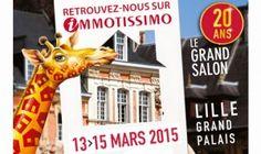 #Salon Immotissimo à Lille du 13 au 15 mars 2015. Immotissimo est le grand salon immobilier de la région Nord Pas de Calais  http://www.batilogis.fr/agenda/salon-france-2015-1.html