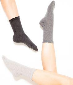 3 paires de chaussettes noir gris blanc beige Camaïeu 2016