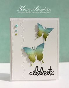 Celebrate #card by Karin Akesdotter for #PaperSmooches
