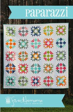Paparazzi Quilt Pattern by Frecklemama Chris Warnick  Fat Quarter Friendly Quilt Pattern  Baby and Lap Quilt Sizes