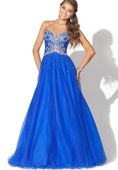 Long Dresses | Home > Prom > Organza Strapless Sweetheart A-Line Long Prom Dress