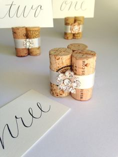 "Inspired by a glamorous vineyard wedding ... WHAT PEOPLE ARE SAYING ""Kara is absolutely the best! My place card holders and table number holders are amazing and perfect for my rehearsal dinner. HIGHLY"