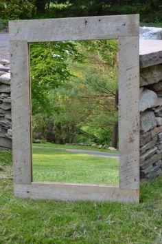 Goregous!! Salvaged American Barn Wood Mirror