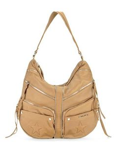 Love this handbag. Beige here. Also comes in black and brown options. Bag by Mugler by Thierry Mugler. The website has many other styles by the same designer with extreme low prices. This brand sells out fast!!!!