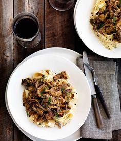 Beef and mushroom Stroganoff - Gourmet Traveller - also add tomato paste