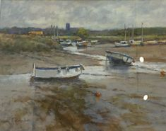 "Valerie Batchelor, ""Muddy Water At Morston Quay"" Norfolk House, Muddy Waters, It Works, England, Landscape, Gallery, Beach, Artist, Painting"