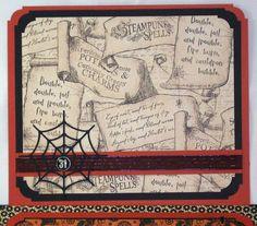 Premade Gatefold Scrapbook Album Halloween Steampunk Graphic 45 Iopg Susan | eBay