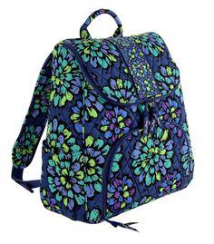 84e626e84d5f Vera Bradley Double Zip Backpack in Indigo Pop  VeraBradley  Backpack Pop  Bag