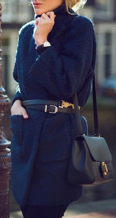 That's a Wrap: Ganni coat, Reiss belt, Daniel Wellington watch | Raspberry & Rouge