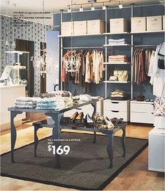 ikea walk-in closet (or room)? Yes please!