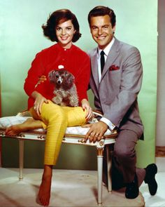 Natalie Wood and her little poodle