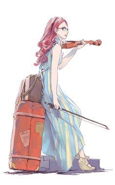 Imagen de violin, art, and anime girl Female Character Design, Character Design References, Character Design Inspiration, Character Concept, Character Art, Concept Art, Style Inspiration, Manga Art, Manga Anime