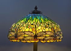 Grape shade lamps tiffany leaded glass lamps pinterest dragonflies in stained glass si dragonfly stained glasstiffany stained glassstained glass lamp shadestiffany floor lampslouis comfort mozeypictures Gallery