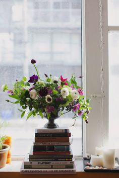 Flowers by sweet woodruff...since we'll have plenty of books in our house after we get married....:)