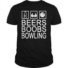 BEER BOOBS BOWLING - #tee times #girls hoodies. I WANT THIS => https://www.sunfrog.com/Hobby/BEER-BOOBS-BOWLING-Black-Guys.html?60505