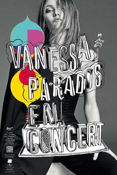 M/M PARIS - Live in Heaven #poster #handwriting #illustration