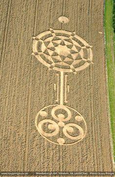 Los círculos en los cultivos, círculos en las cosechas, círculos en el pasto o agroglifos son dibujos que aparecen en campos de cultivo (de trigo, maíz, etc.).