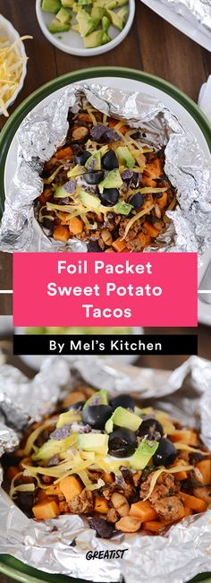 2. Foil Packet Sweet Potato Tacos #foilpacket #recipes http://greatist.com/eat/foil-packet-recipes-for-easy-cleanup
