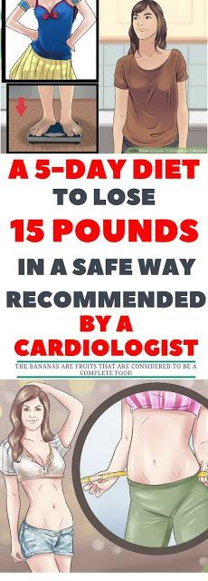 A 5-Day Diet To Lose 15 Pounds In A Safe Way. Recommended By A Cardiologist ~ KrobKnea