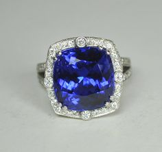 Oneofa Kind Tanzanite and  Diamond Platinum by greenhilljewelers, $15000.00