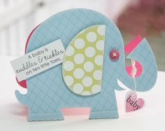 Not an invite but the template to make elephants to frame with scrapbook paper!