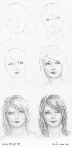 Gesicht zeichnen: Schritt für Schritt