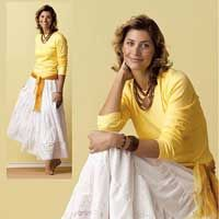 Bohemian Beauty. A bohemian skirt tutorial on Sew News