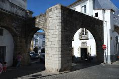 Arches of Evora: Probably built during Moorish period to strengthen the early construction by the Roman Moorish, Brooklyn Bridge, Arches, Period, Roman, Construction, Architecture, Building, Travel