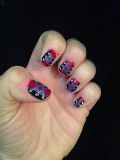 Corset nails I painted this morning, the idea was from Gothic Beauty Magazine issue 43